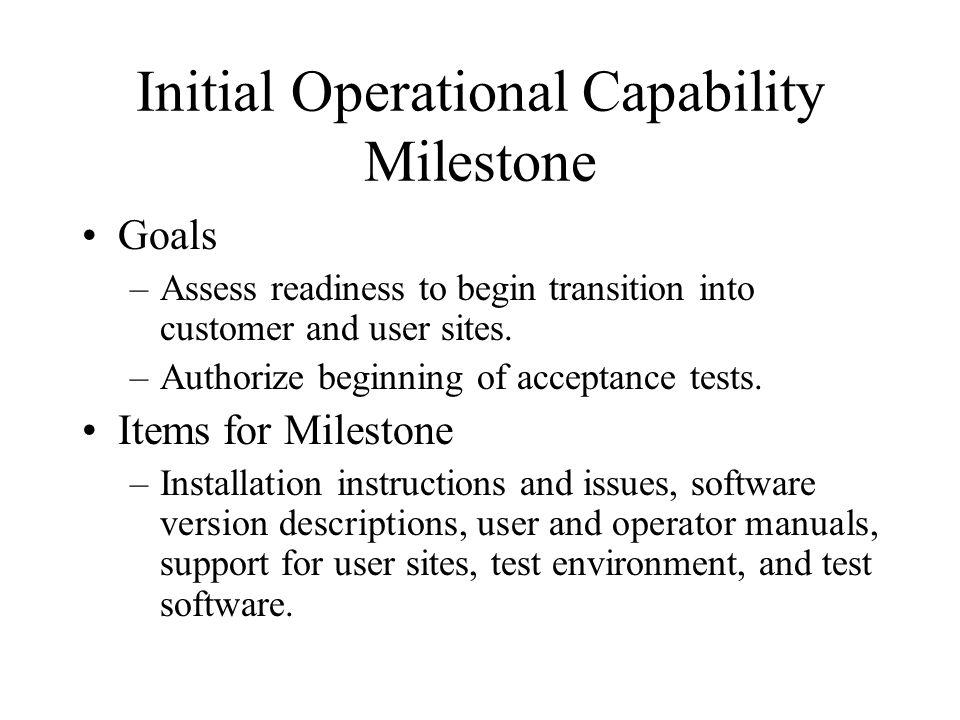 Initial Operational Capability Milestone