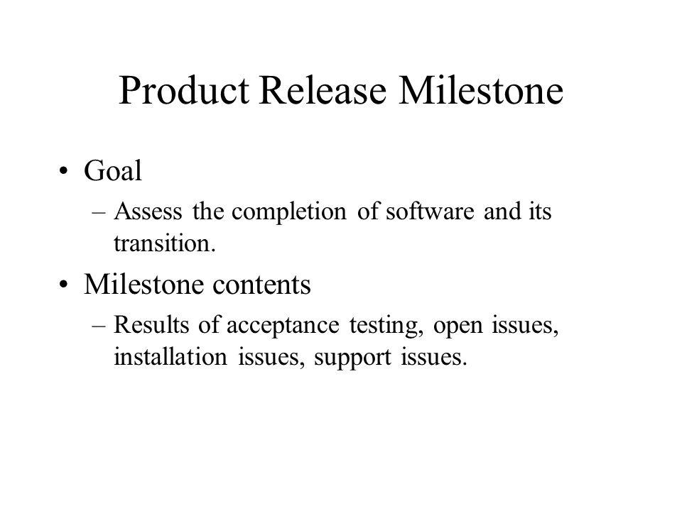 Product Release Milestone