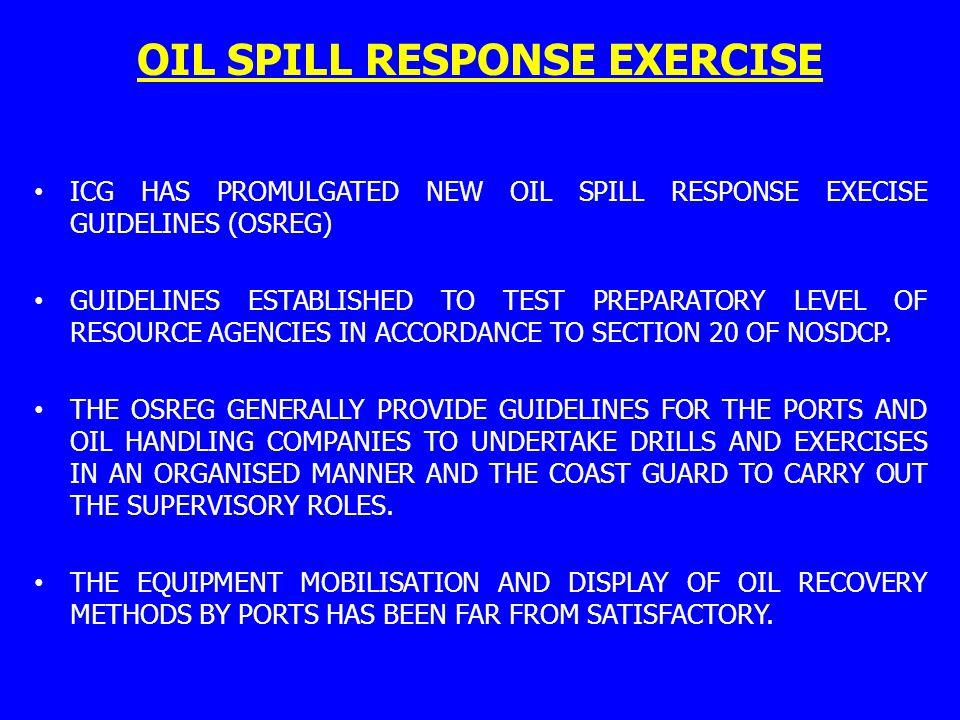 OIL SPILL RESPONSE EXERCISE