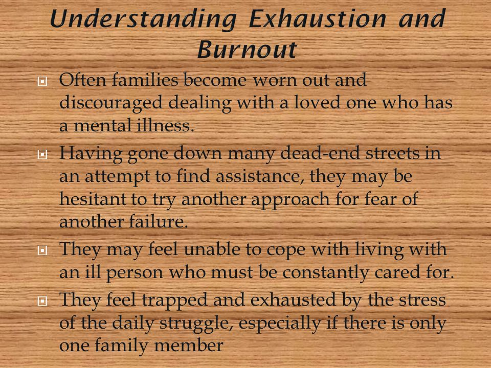 Understanding Exhaustion and Burnout