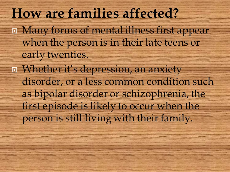 How are families affected