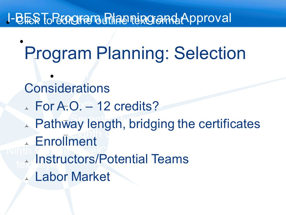 Program Planning: Selection