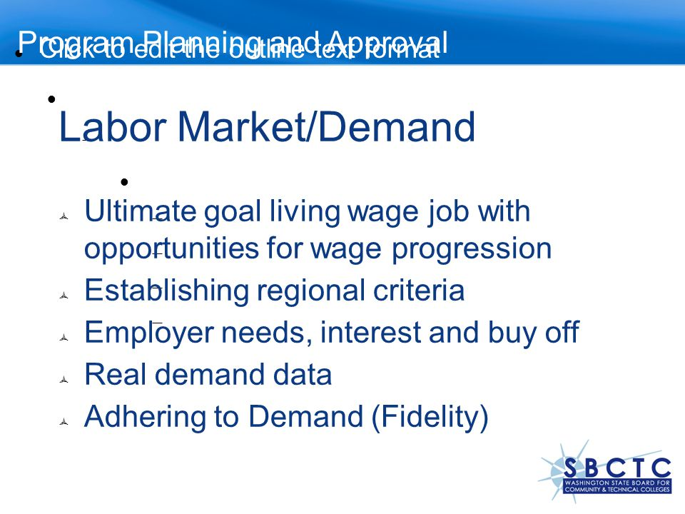 Labor Market/Demand Program Planning and Approval