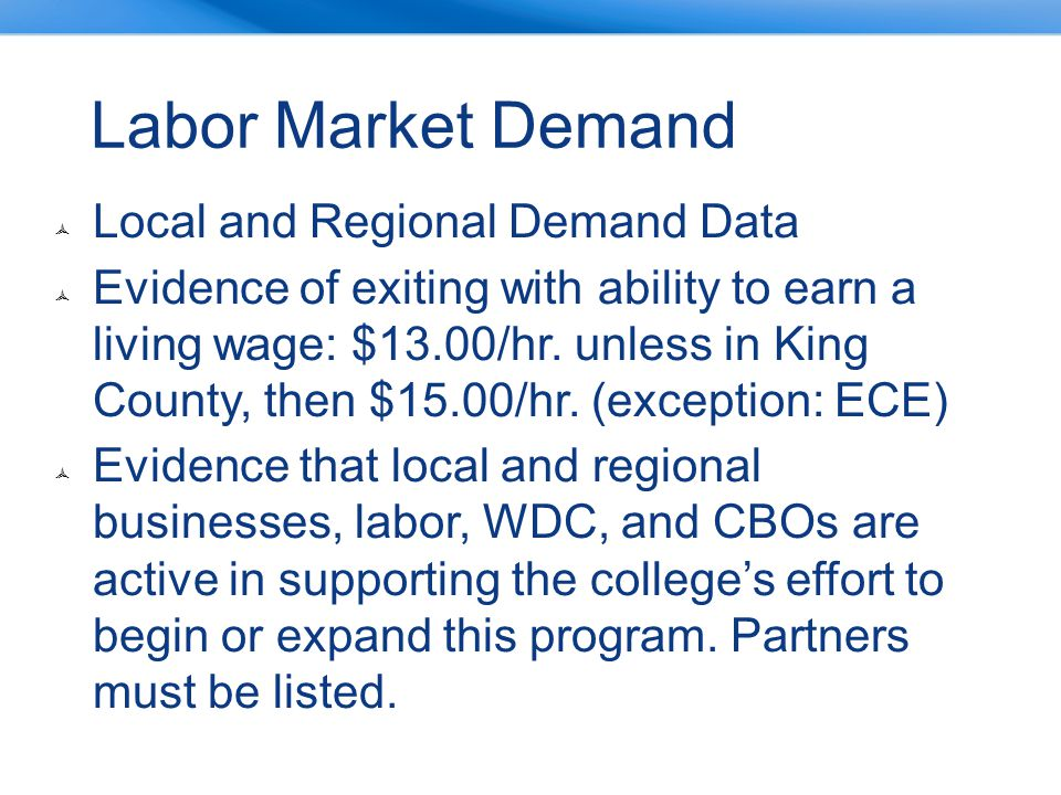 Labor Market Demand Local and Regional Demand Data
