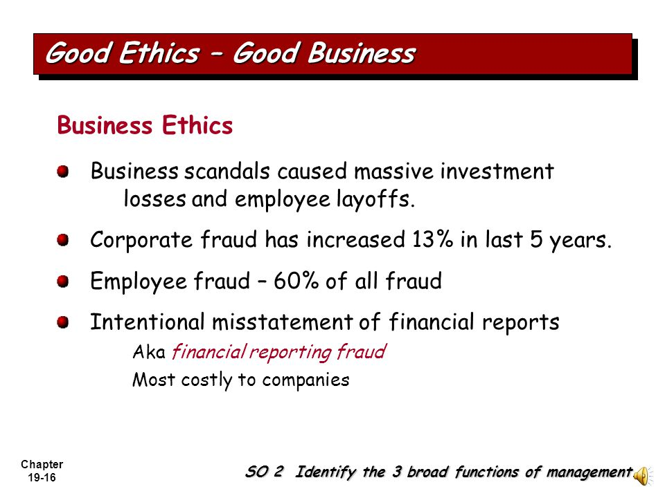 Good Ethics – Good Business