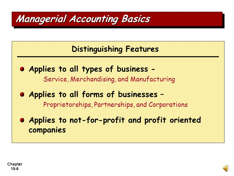 Managerial Accounting Basics