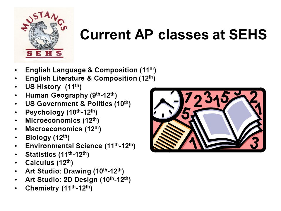 Current AP classes at SEHS
