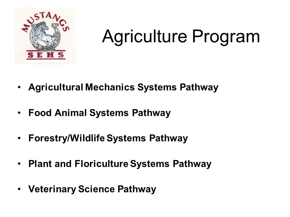 Agriculture Program Agricultural Mechanics Systems Pathway