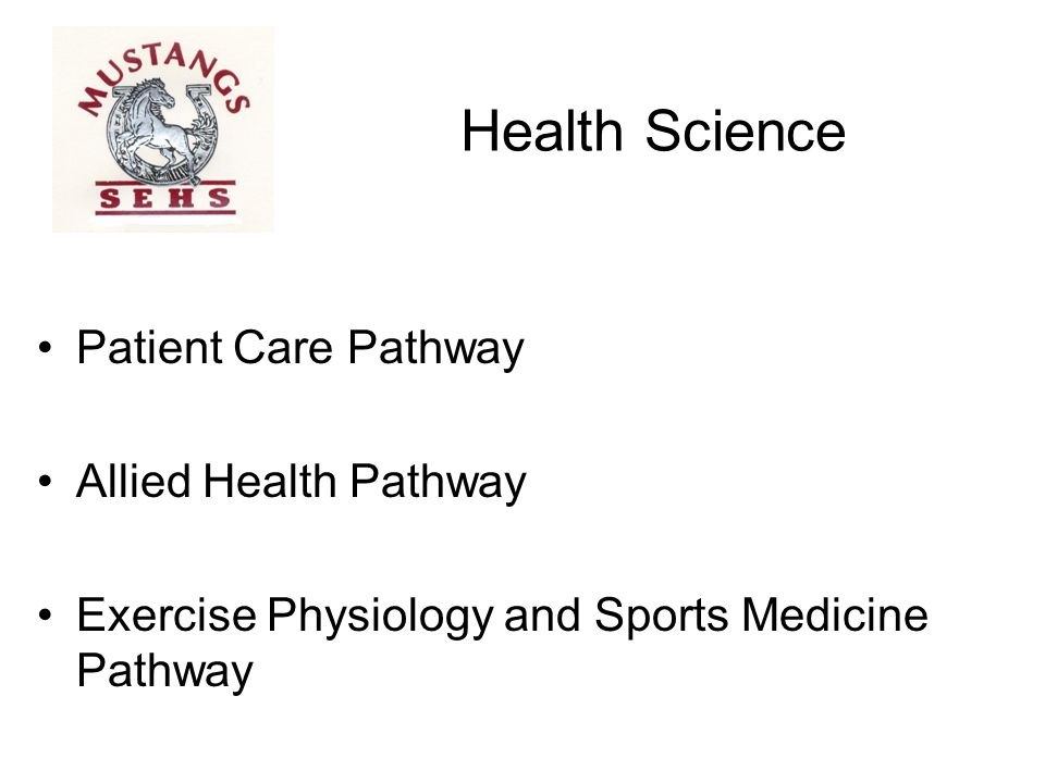 Health Science Patient Care Pathway Allied Health Pathway