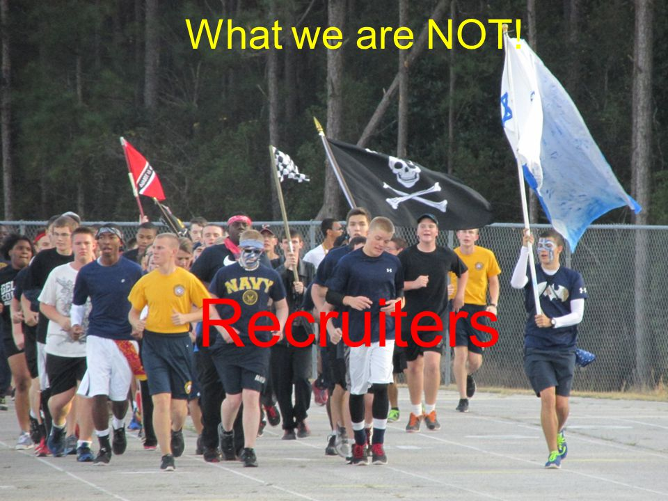 What we are NOT! Recruiters