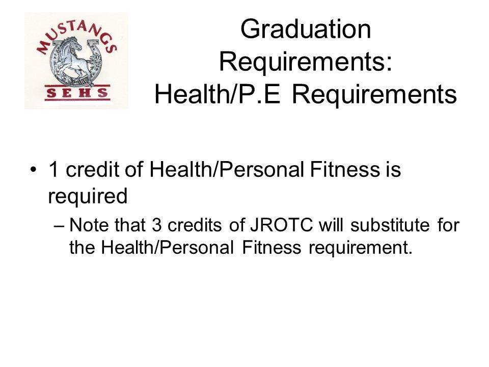 Graduation Requirements: Health/P.E Requirements