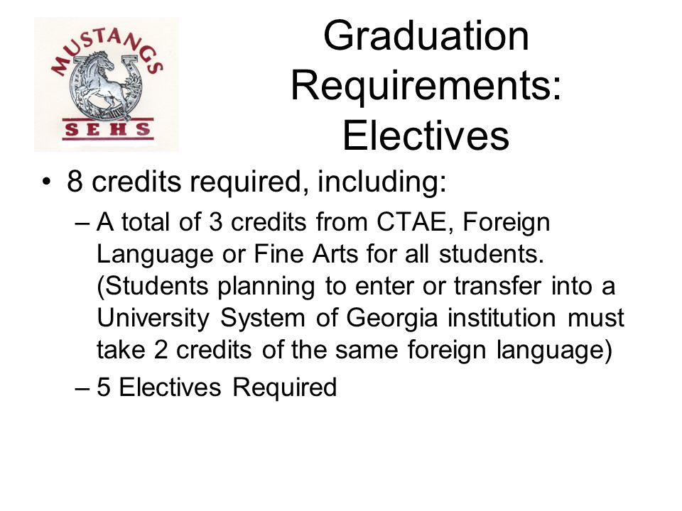 Graduation Requirements: Electives