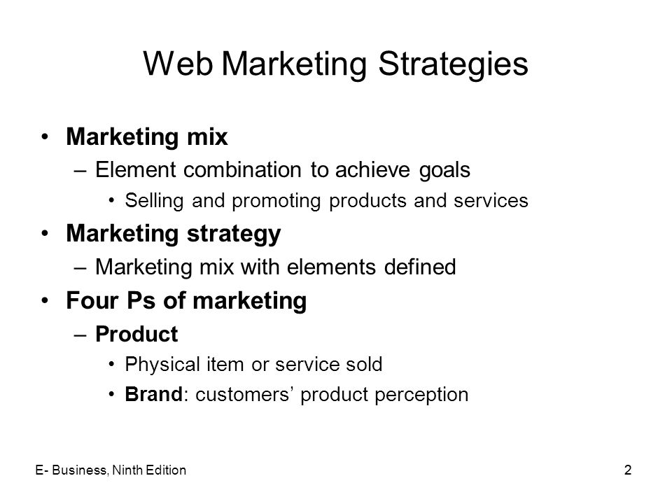Web Marketing Strategies