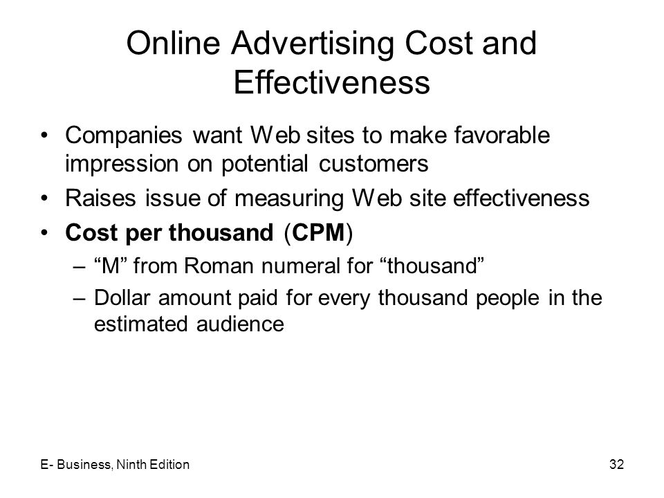 Online Advertising Cost and Effectiveness