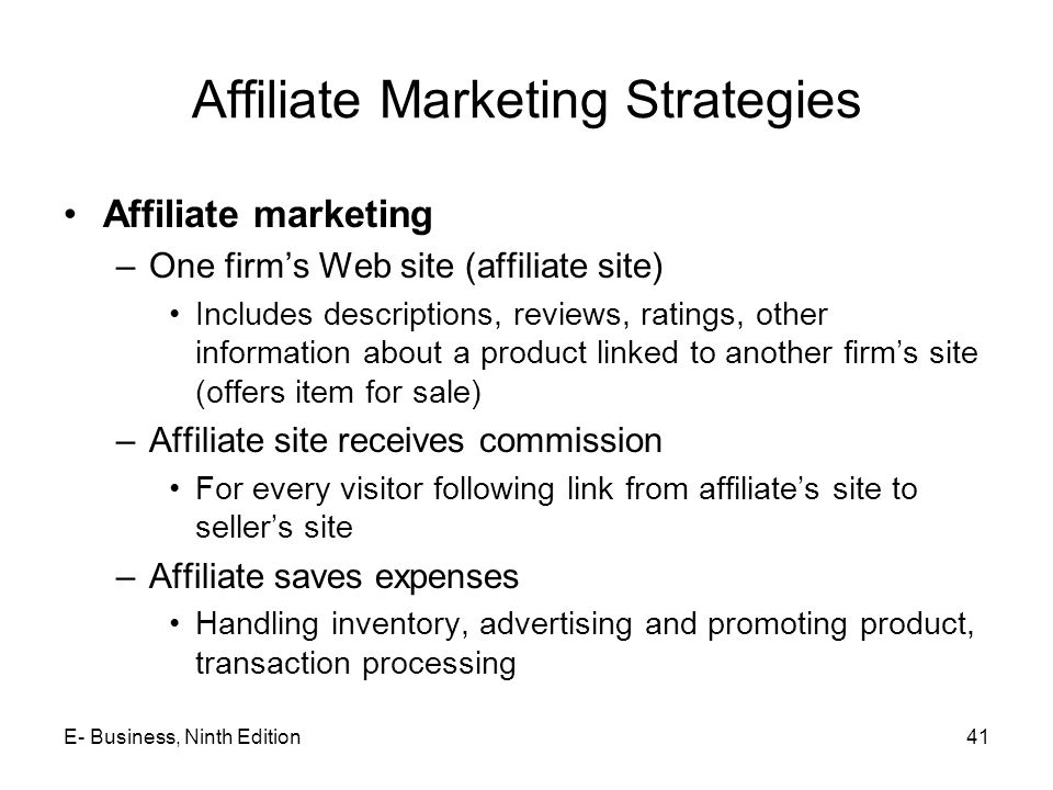 Affiliate Marketing Strategies