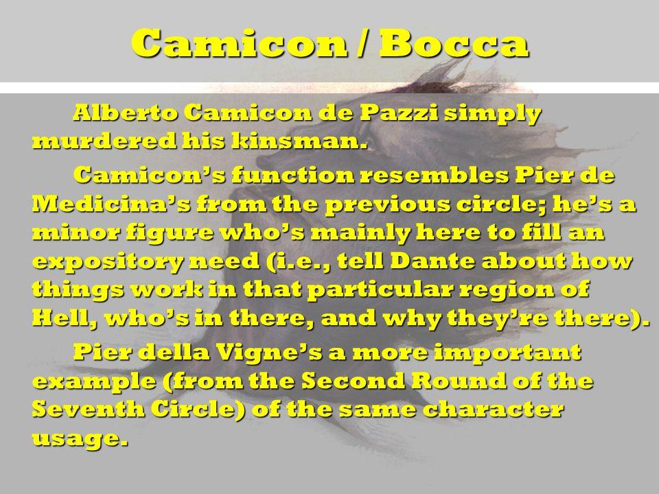 Camicon / Bocca Alberto Camicon de Pazzi simply murdered his kinsman.
