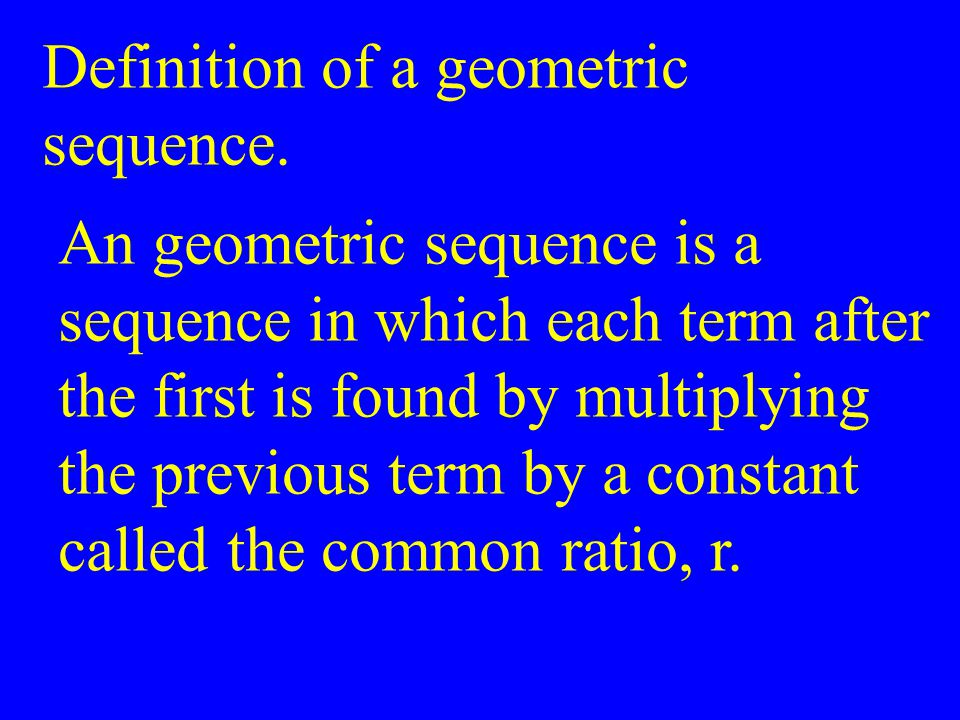 Definition of a geometric