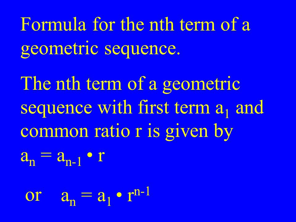 Formula for the nth term of a
