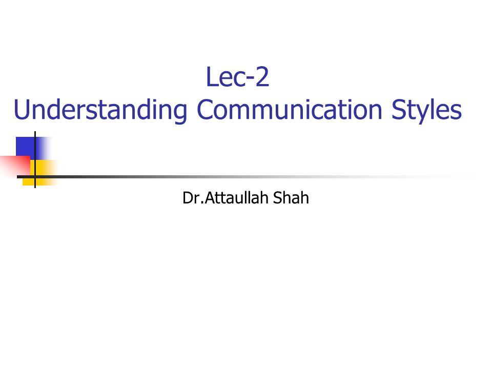 Lec-2 Understanding Communication Styles