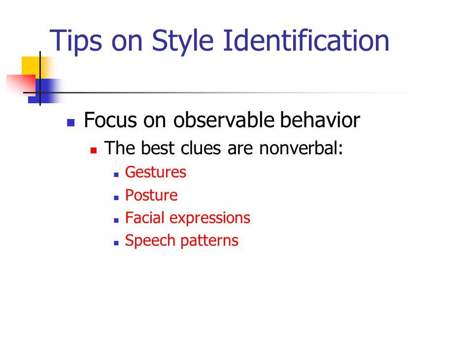 Tips on Style Identification