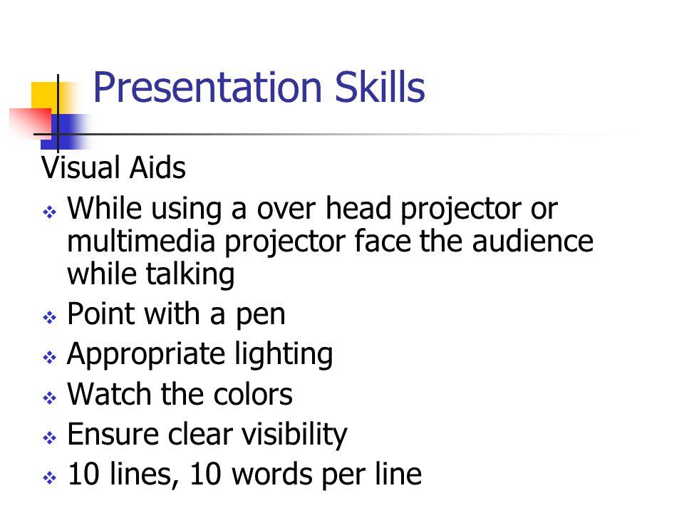 Presentation Skills Visual Aids