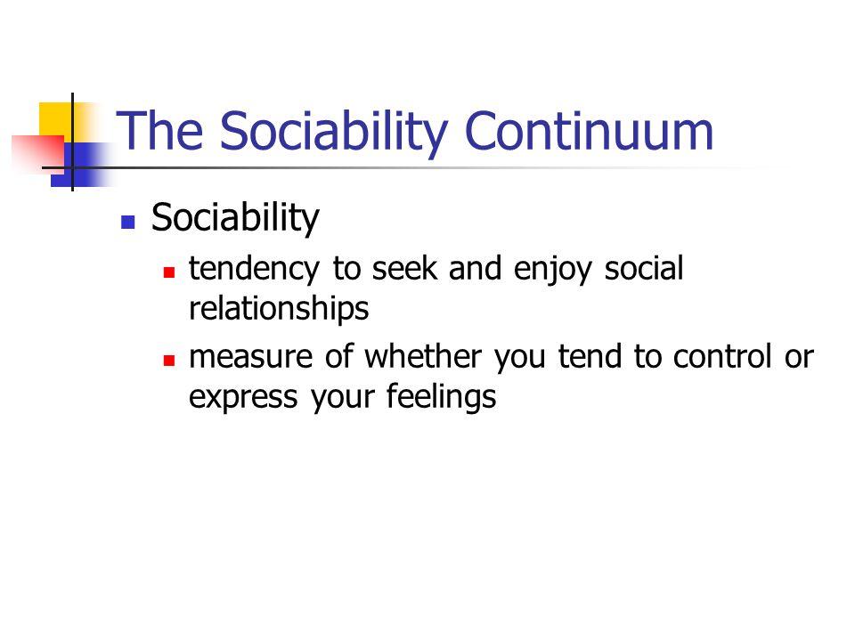 The Sociability Continuum