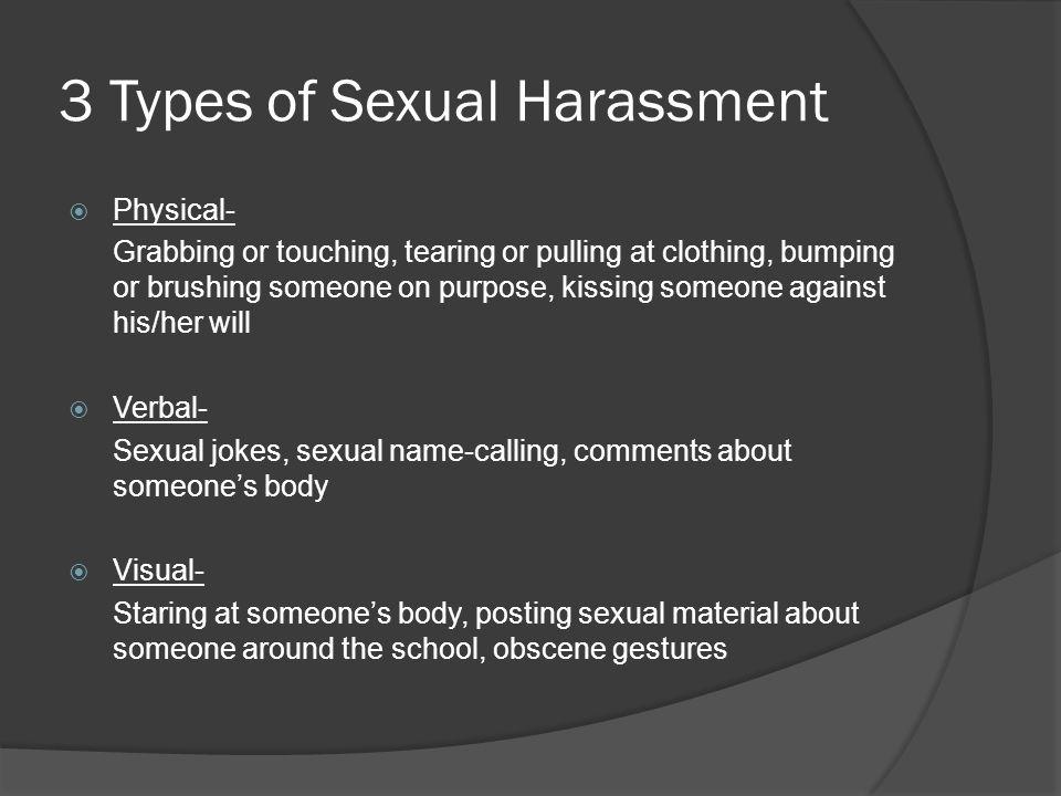 3 Types of Sexual Harassment