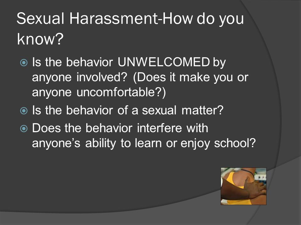 Sexual Harassment-How do you know