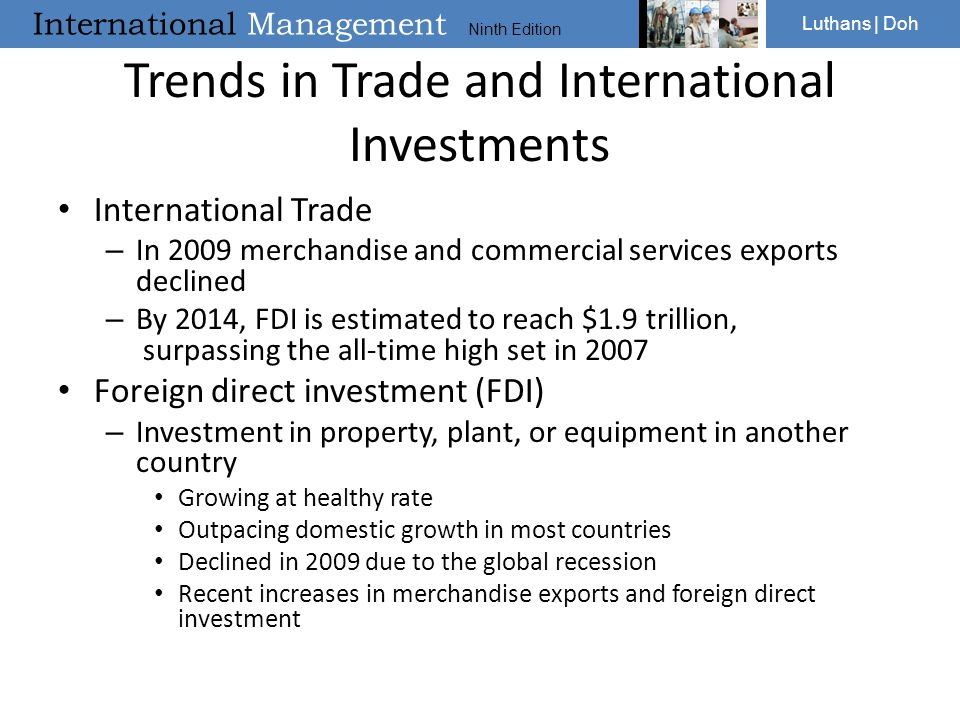 Trends in Trade and International Investments