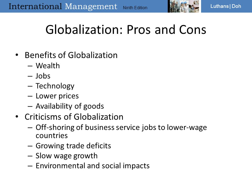 Costs and benefits of globalisation