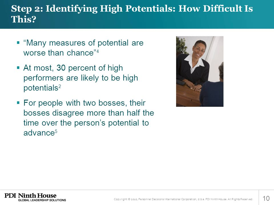 Step 2: Identifying High Potentials: How Difficult Is This