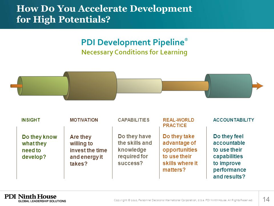 PDI Development Pipeline® Necessary Conditions for Learning