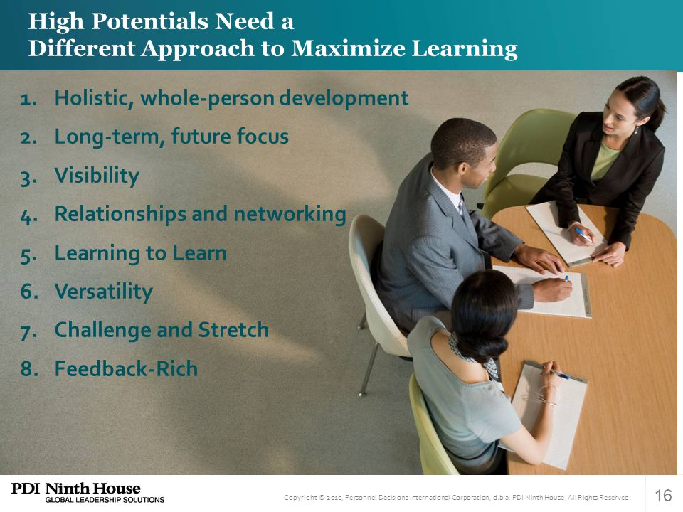 High Potentials Need a Different Approach to Maximize Learning