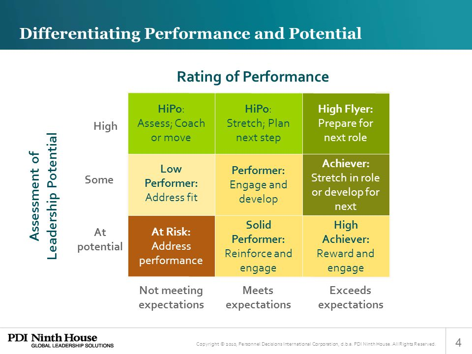 Differentiating Performance and Potential