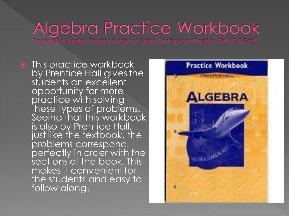 Algebra Practice Workbook Prentice Hall Algebra Practice Workbook