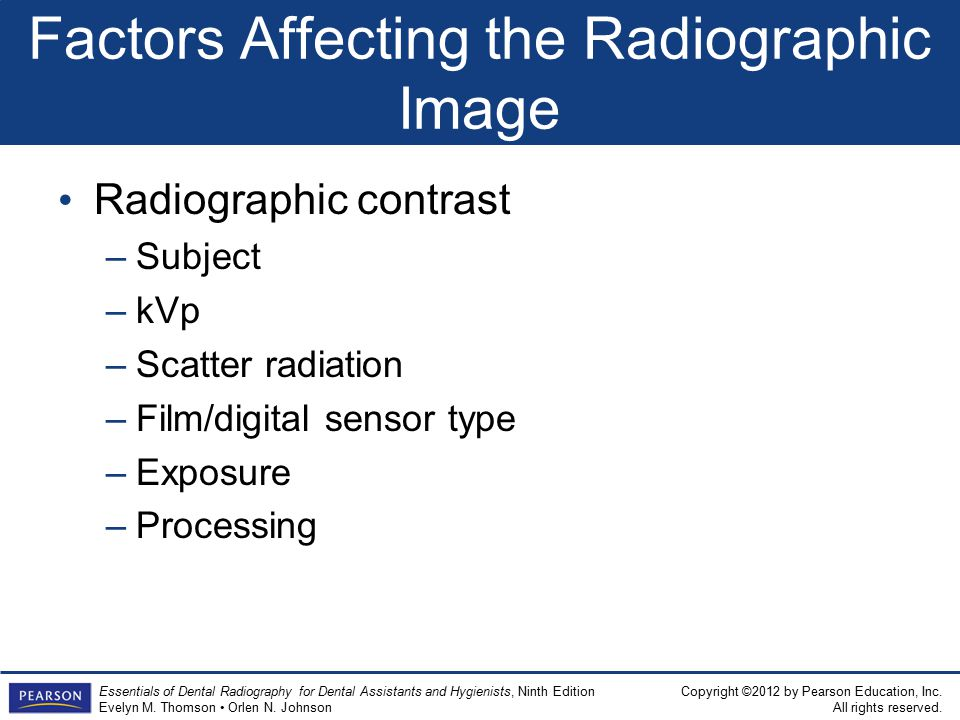 Factors Affecting the Radiographic Image