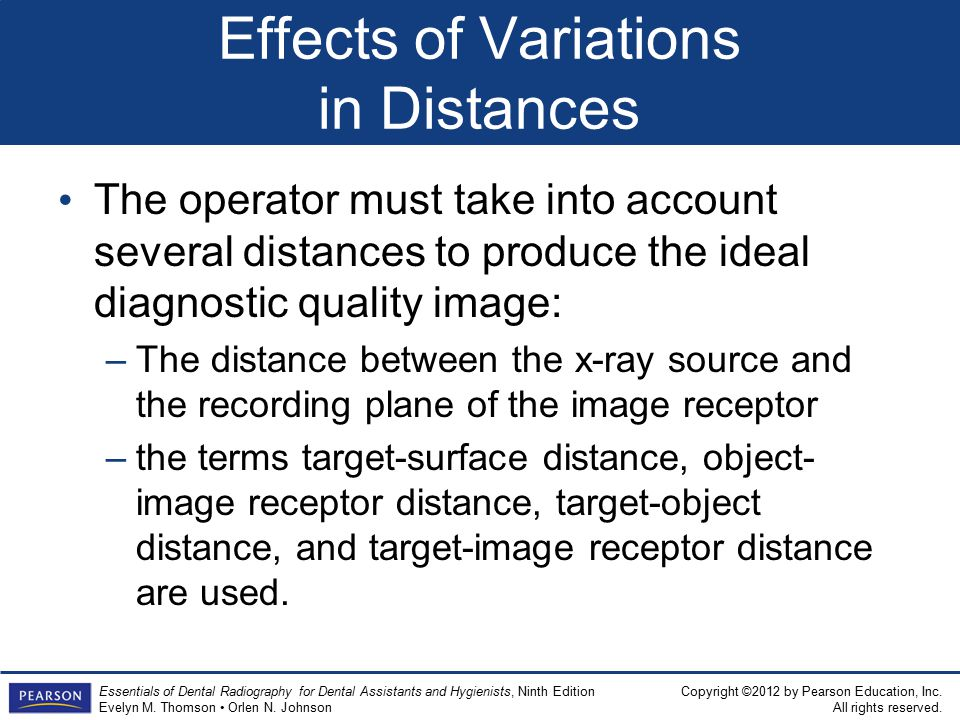 Effects of Variations in Distances