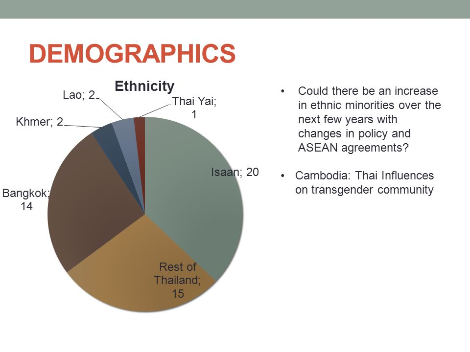 DEMOGRAPHICS Could there be an increase in ethnic minorities over the next few years with changes in policy and ASEAN agreements
