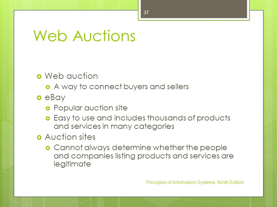 Web Auctions Web auction eBay Auction sites