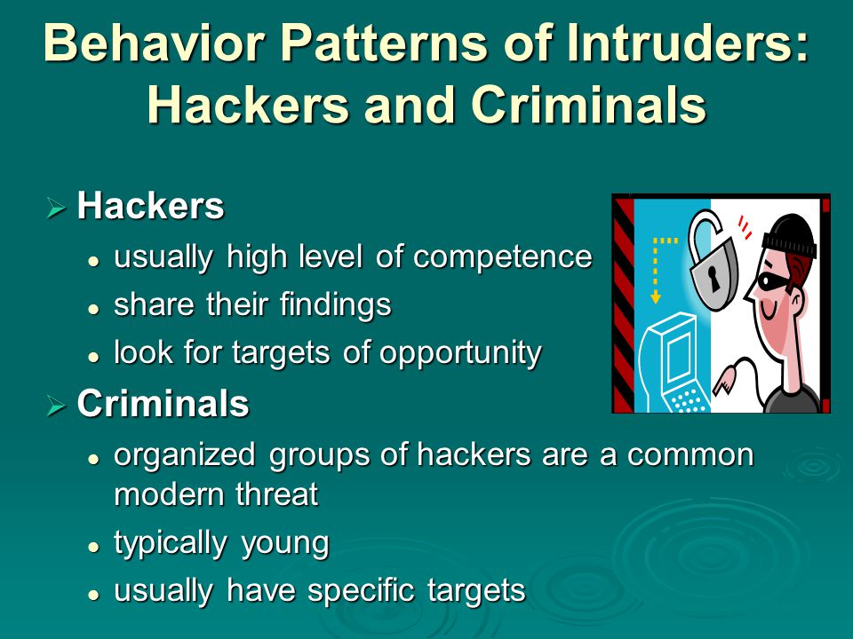 Behavior Patterns of Intruders: Hackers and Criminals
