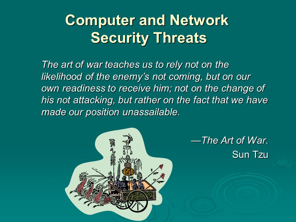 Computer and Network Security Threats