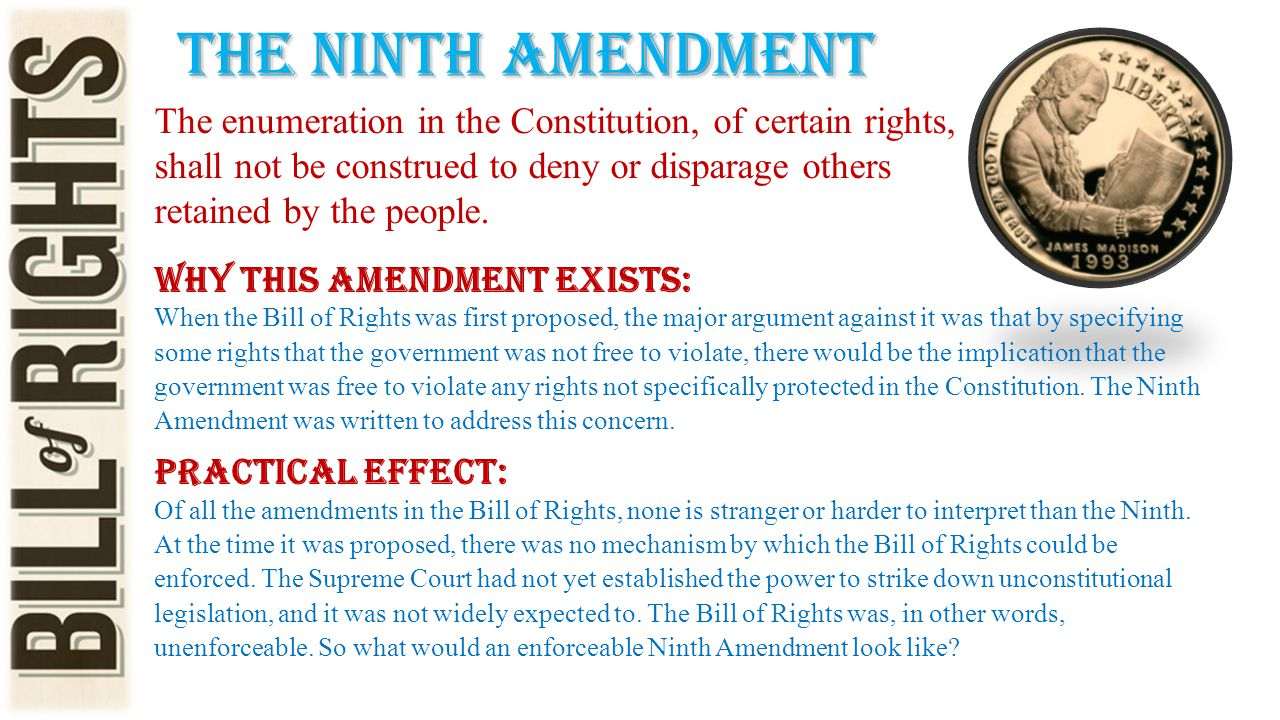 The ninth amendment