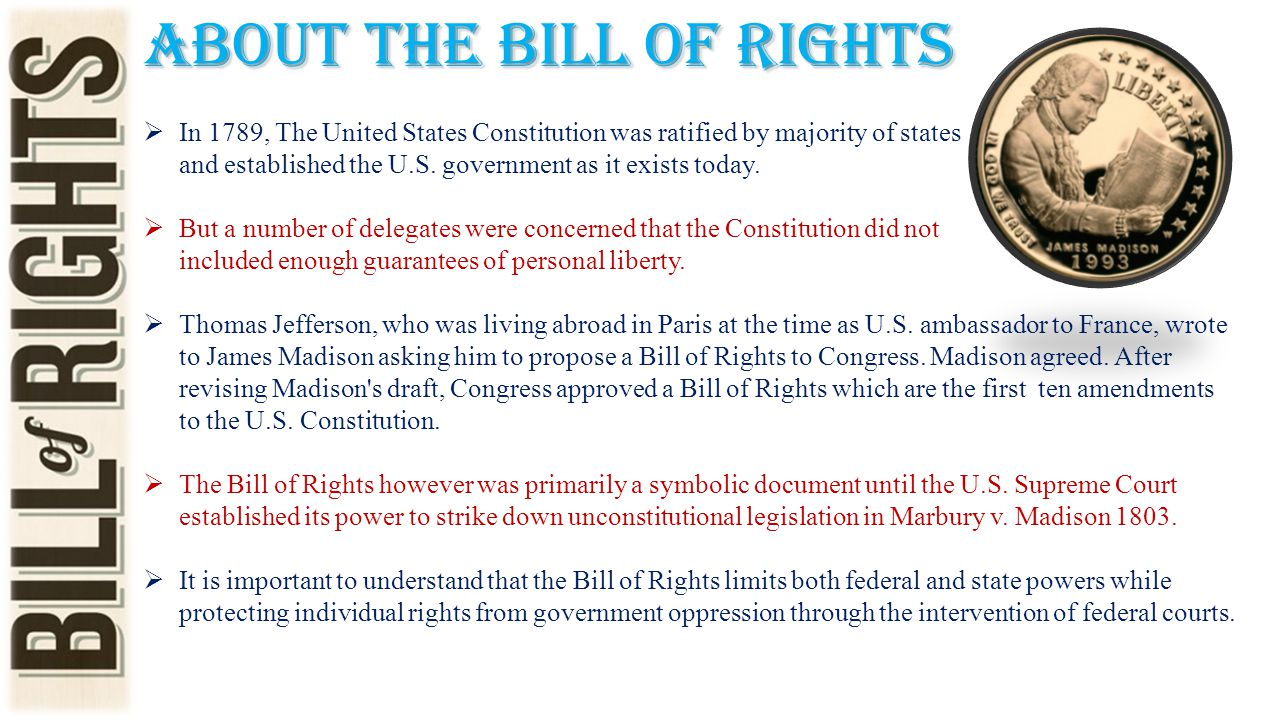 About the Bill of Rights