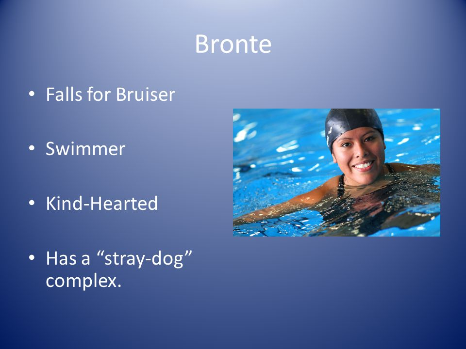 Bronte Falls for Bruiser Swimmer Kind-Hearted