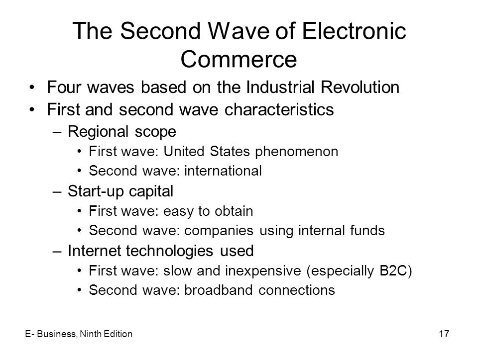 The Second Wave of Electronic Commerce
