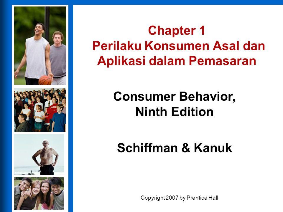 Chapter 1 Perilaku Konsumen Asal dan Aplikasi dalam Pemasaran