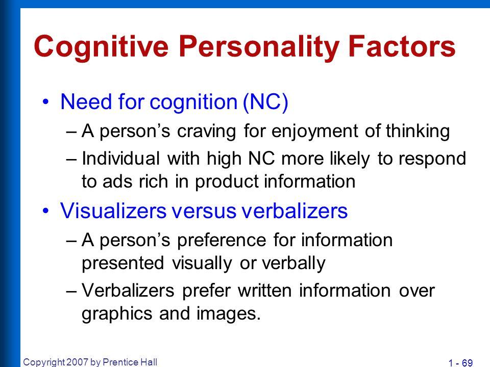 Cognitive Personality Factors