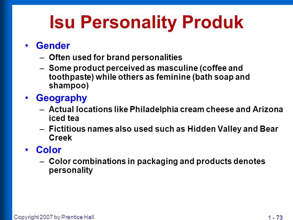 Isu Personality Produk