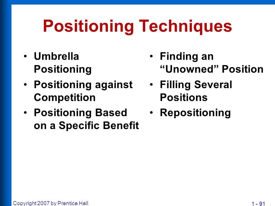 Positioning Techniques