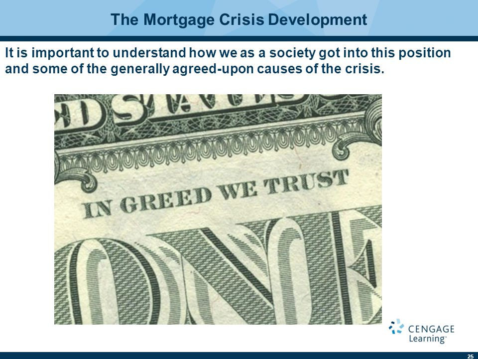 The Mortgage Crisis Development